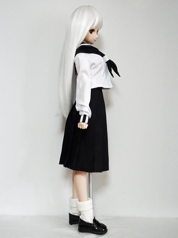 DDS/DD(M.L) 井桁ラインセーラー服(合着/黒)
