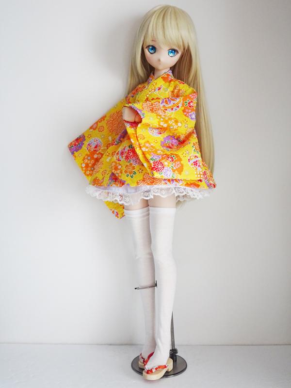 MDD(S胸) 着物エプロンドレス(紫桜)