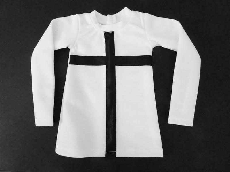 ≪HappyHalloween≫【単品】60cmフリーサイズ クロスTシャツ(白/黒クロス)