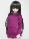50cm〜60cmフリーサイズ パーカーワンピース(紫リップル)