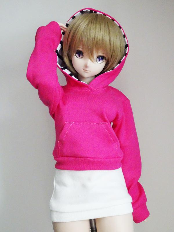 【単品】40〜60cmフリーサイズ パーカートレーナー/長袖(ショッキングピンク)