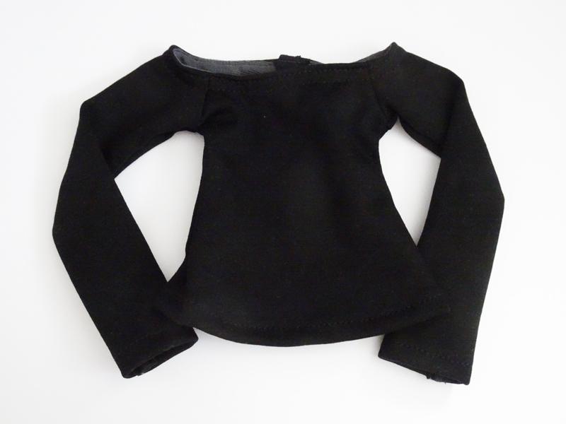 【単品】MDD/DDP/オビツ50(S.M) ボートネックTシャツ(黒)