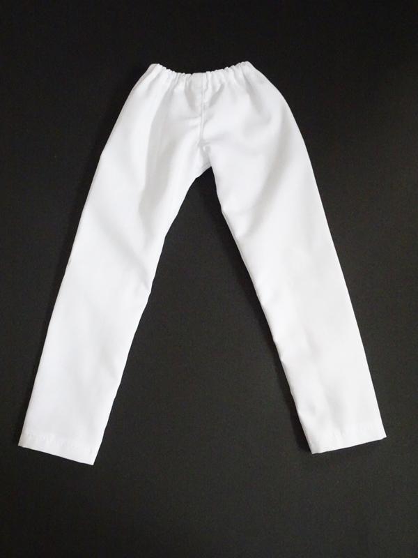 【単品】MDD/DDP/オビツ50 バックポケットパンツ(白)