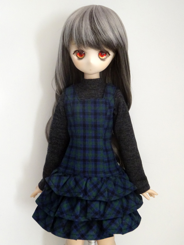 【単品】オビツ50/DDP ロイズジャンバースカート(イエローフラワー)