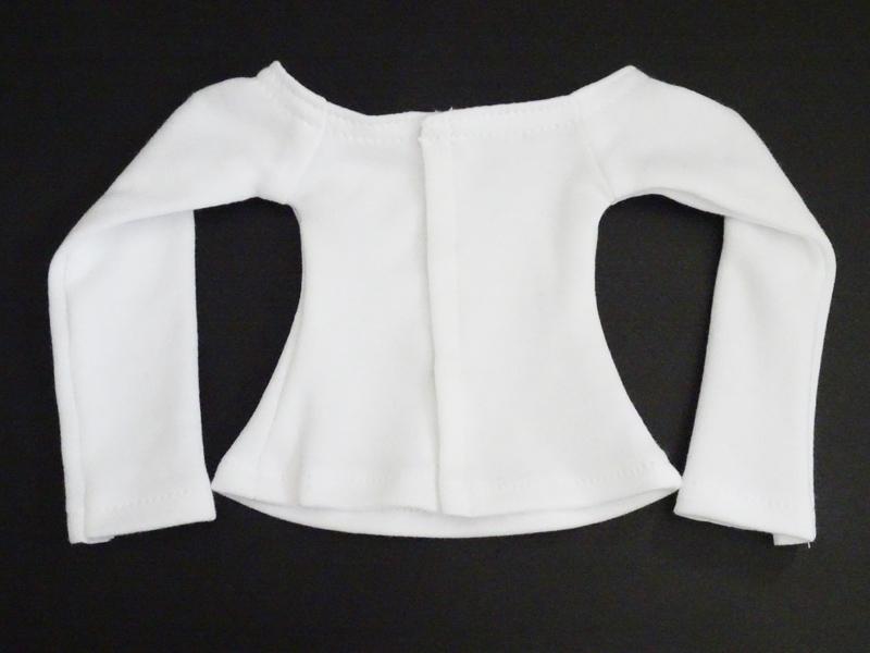 【単品】MDD/DDP/オビツ50(S.M) ボートネックTシャツ(白)