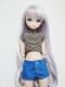 【単品】オビツ50/DDP/MDD(もちあし) ステッチショートパンツ(アリスブルー)