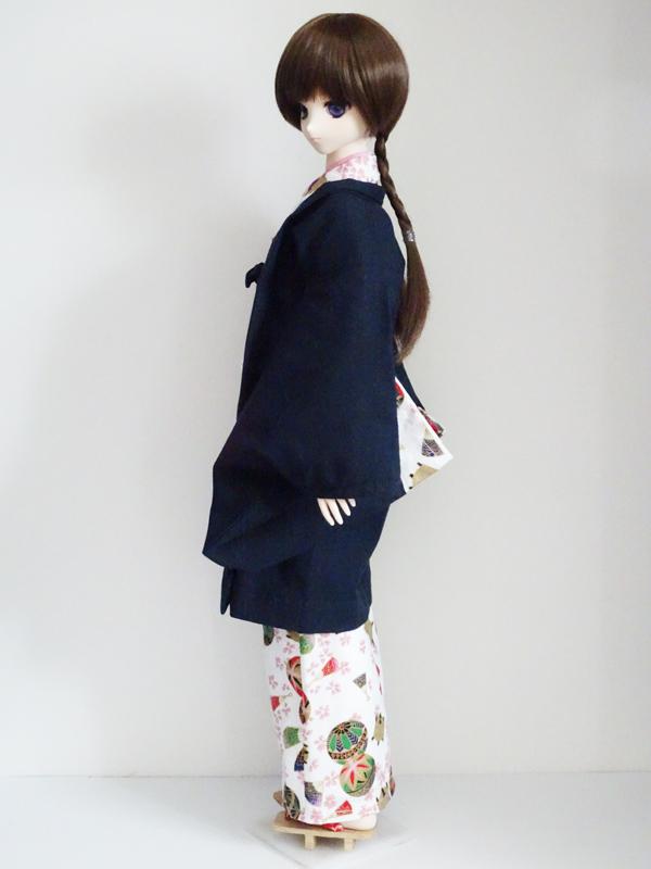 【単品】オビツ50/DDP/AZO2/SD 羽織/ジャガード(朱桜)