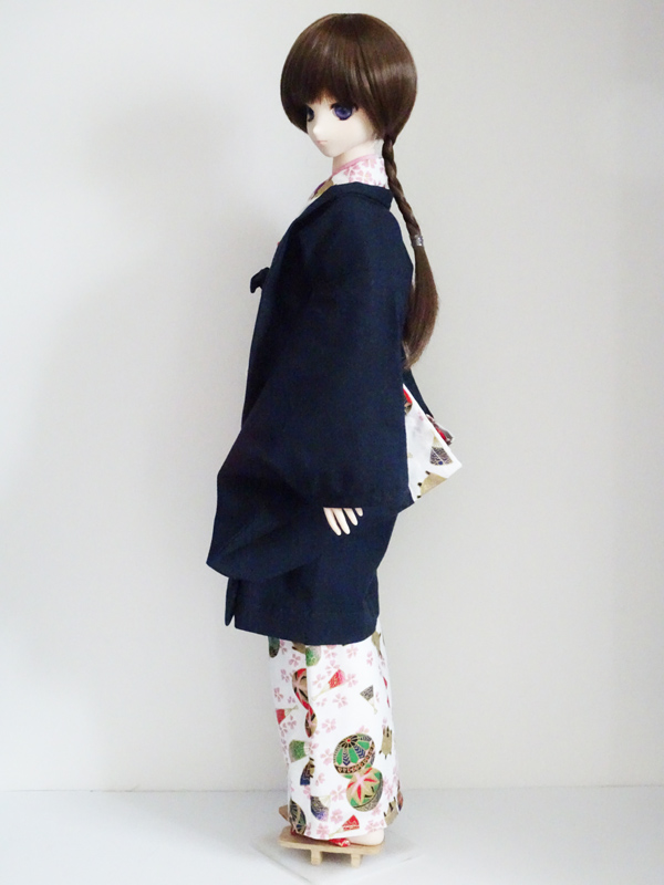 【単品】オビツ50/DDP/AZO2/SD 羽織/金襴(紺市松)