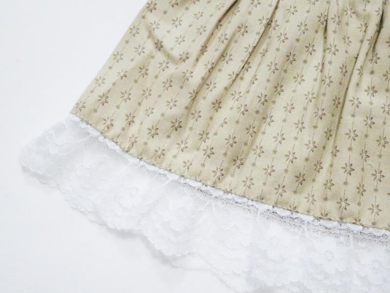 【単品】DD/スマートドール/AZO2 ロングティアードスカート(ティーカラーカントリーフラワー)