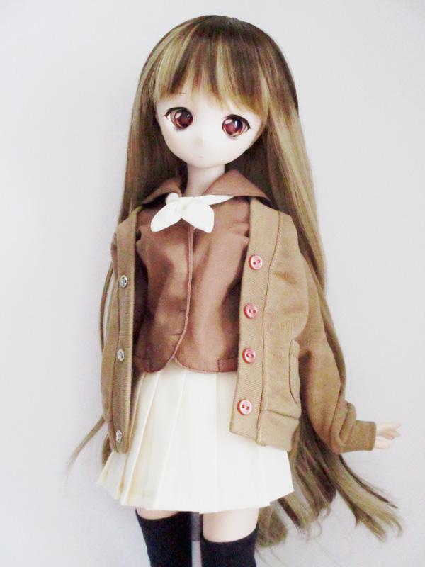 【単品】MDD/DDP Vネックカーディガン(チョコリブ)