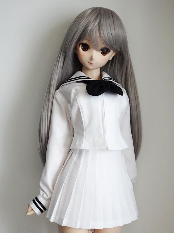 DDS/DD(M.L) セーラー服(白/黒ライン/黒リボン)