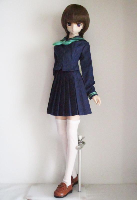 【単品】DDS/DD 校則丈プリーツスカート(紺)