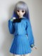 DDS/DD(M.L) セーラー服(冬服/サウザンドブルー×金ライン/黒リボン)