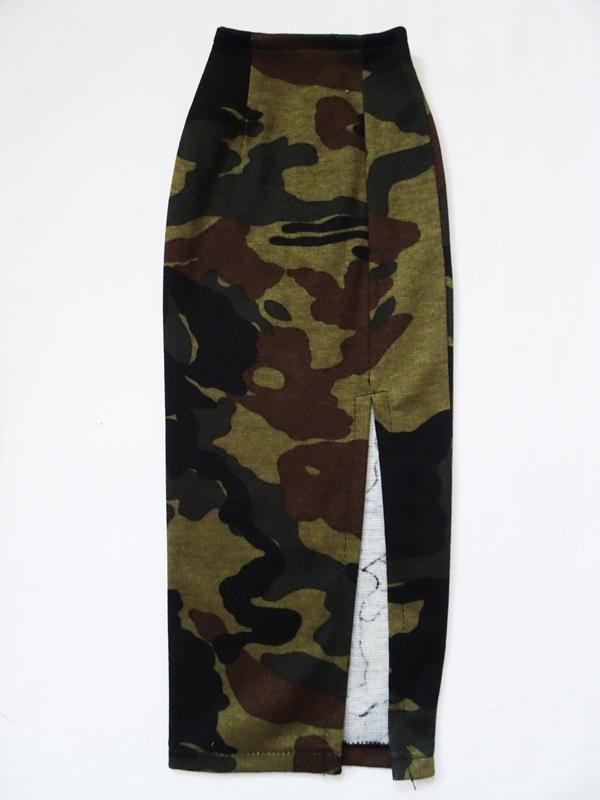 【単品】DD/DDdy/スマートドール ニットロングタイトスカート/前横スリット(迷彩)