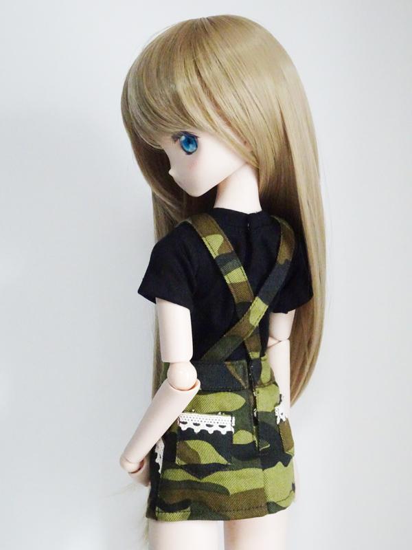 MDD/DDP/オビツ50 サロペットセット*スカート&Tシャツ(迷彩)