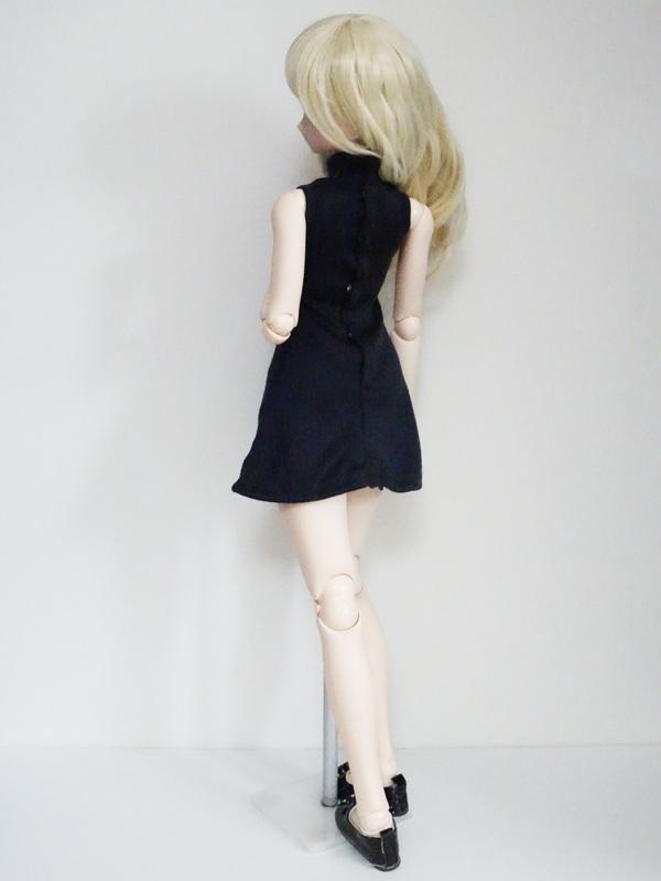 50cmフリーサイズ ノースリーブニットワンピース(濃紺リブ)