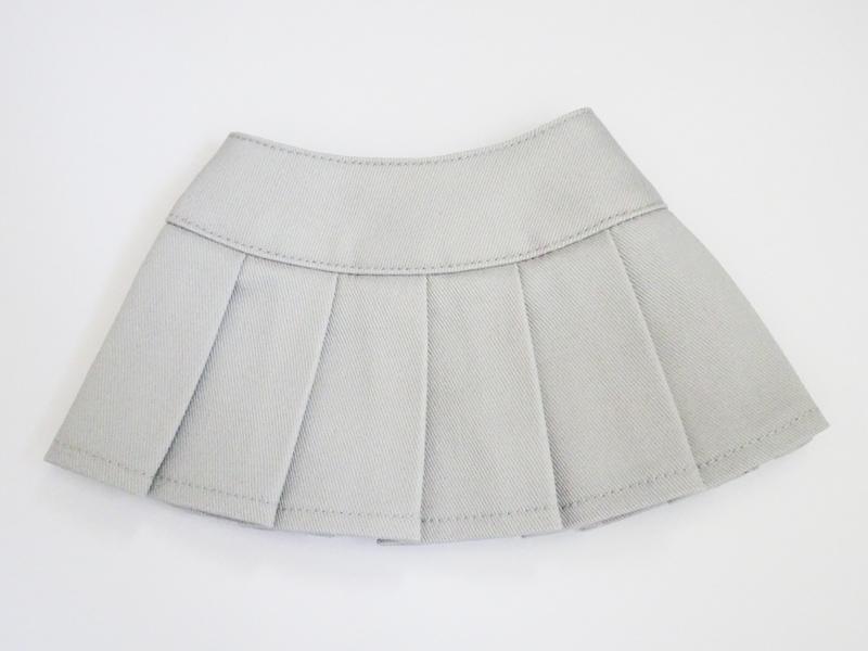 【単品】DDS/DD/DDdy/SD/スマートドール/AZO2 HBプリーツスカート(グレー/ツイル)