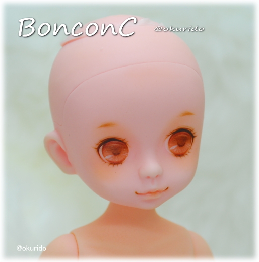 【mudoll BonbonC】 カスタムドール okurido様アイペイント・にっこり)/本体のみ (ウィッグ・衣装無し/メイク:okurido様)