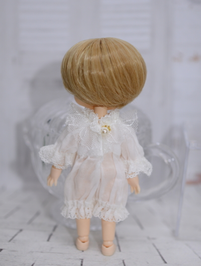 【Pecadoll×7th*Dahlia】 カスタムフルセットドール ふわふわスタイル【pink】(耳付きケープ&オールインワン)/オビツ11cmボディ