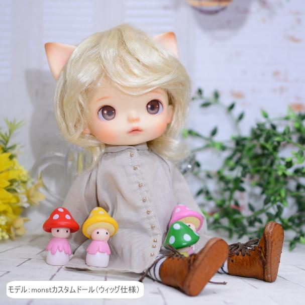 【CoroporoDollsオリジナル】 大きな猫ミミキット (塗装なし)  /レジン製