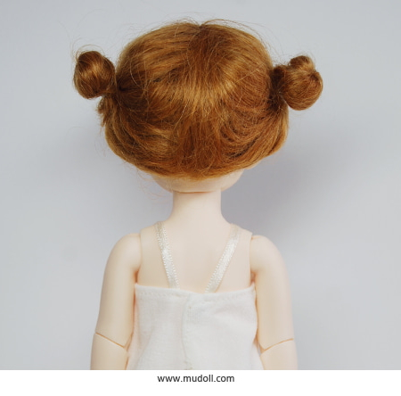 【GLiB】 6-7inch Wig Twin Buns - Maple /モヘア