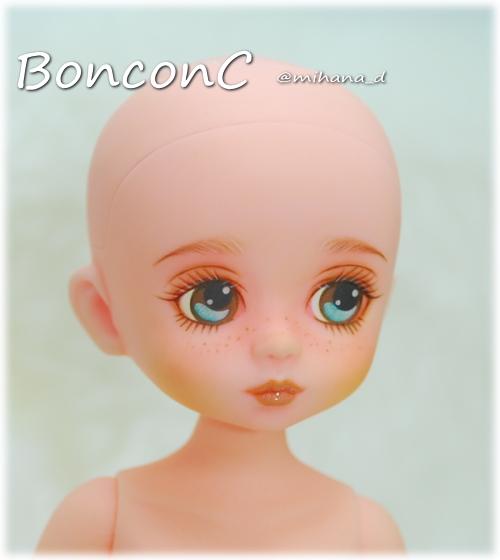 【mudoll BonbonC】 カスタムドール @mihana_d様 アイペイント・そばかす/本体のみ (ウィッグ・衣装無し/メイク:@mihana_d様)