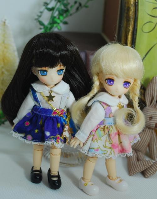 (売り切れました)  【オビツ11】 カスタムフルセットドール 三つ編み(ピンクスカート・ショルダーアクセ付) /オビツ11cmボディ