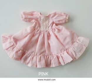 【GLiB】 【OUTFIT Dotories 28cm Doll 】 Melody Dress -Brown or Pink
