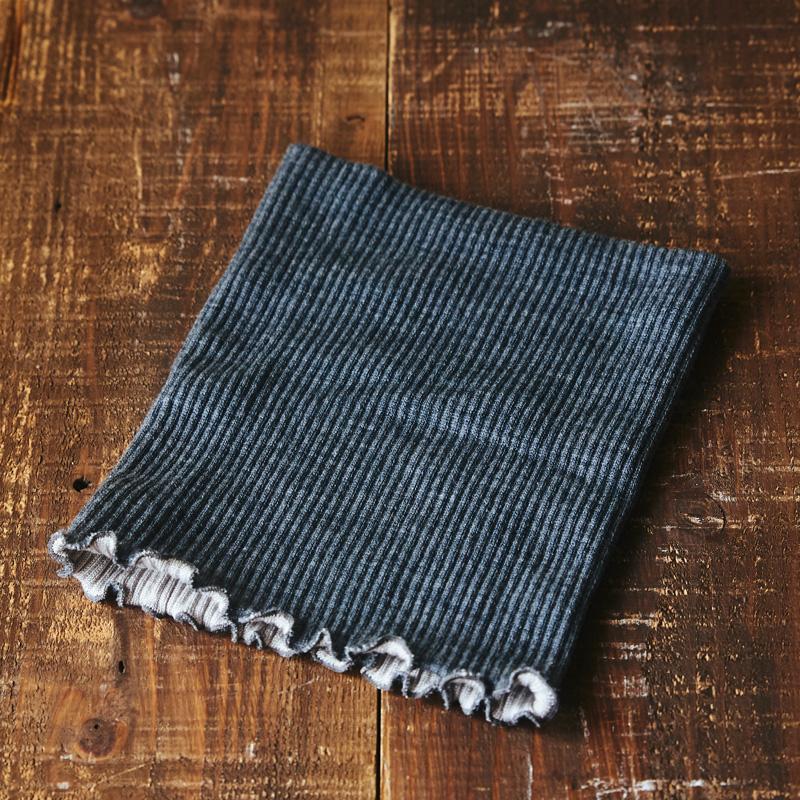 シルク&ウール二重織ネックウォーマー(ロング)