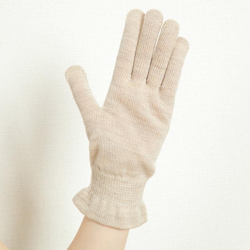 内シルク外ウール手袋