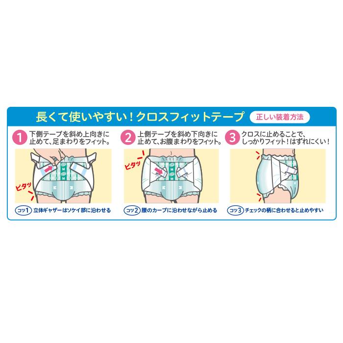 リフレ 簡単テープ止めタイプ横モレ防止 小さめMサイズ 32枚入 おしっこ約5回分