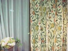 【送料無料】ウイリアムモリス/フルーツ1 オーダーカーテン W(幅)182センチ