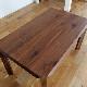 ・【アリエス-2】ダイニングテーブル 幅180cm ウォールナット 無垢 食卓テーブル
