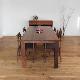 ・【アーティス】ダイニングテーブル 幅160cm ウォールナット 無垢 食卓テーブル