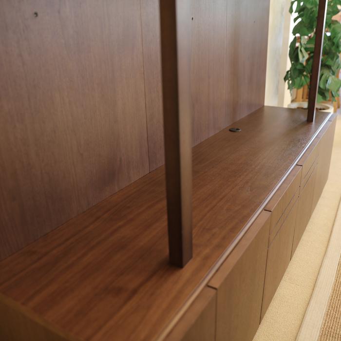・【フラックス】 幅174cm テレビボード ウォールナット