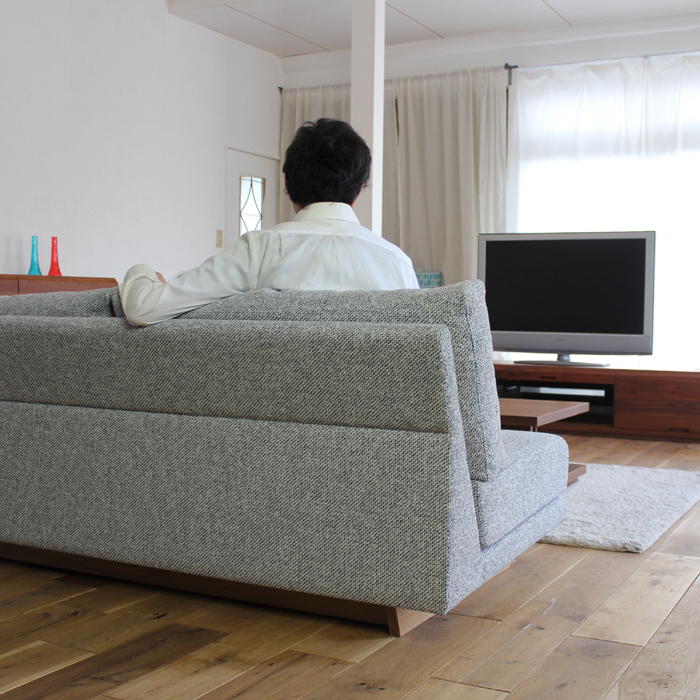 ・【フラット】 幅180cm ソファ SOFA 国産 日本製 カバーリングタイプ