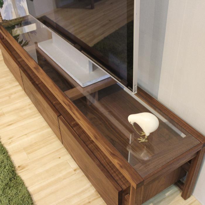 ・【クルックス】 幅180cm テレビボード ウォールナット ローボード