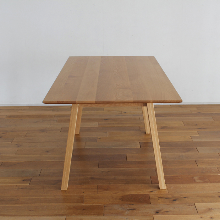 ・【オーベルジュ】ダイニングテーブル 幅160cm オーク 無垢 食卓テーブル