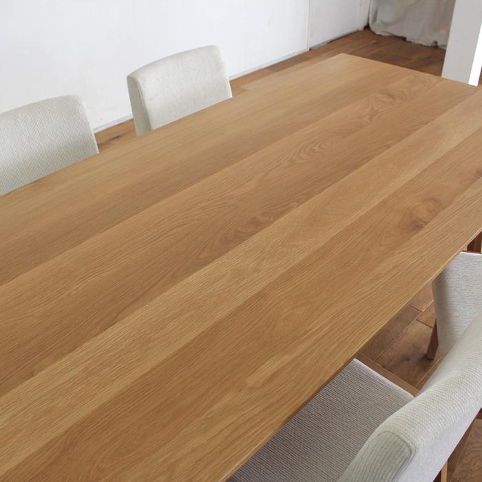 ・【オーベルジュ】ダイニングテーブル 幅180cm オーク 無垢 食卓テーブル
