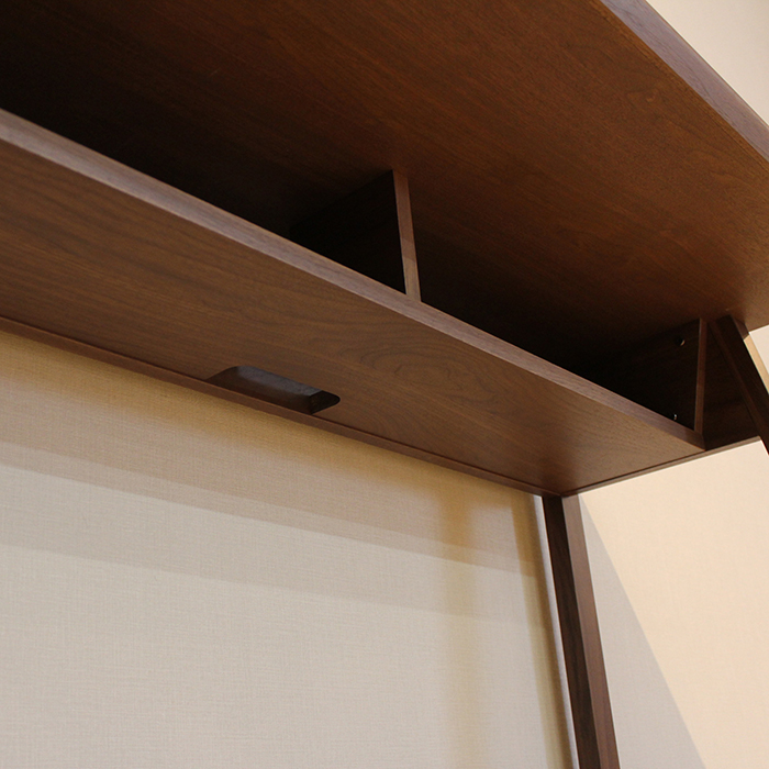 ・【ジオス】 幅120cm 伸張 デスク 学習デスク ウォールナット