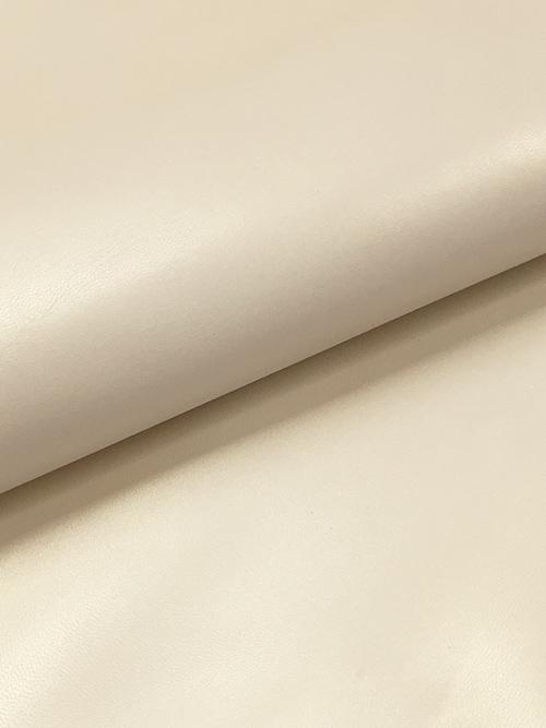 ヤギ革【丸革】メタリック仕上げ/0.8mm/オフホワイト [50%OFF]