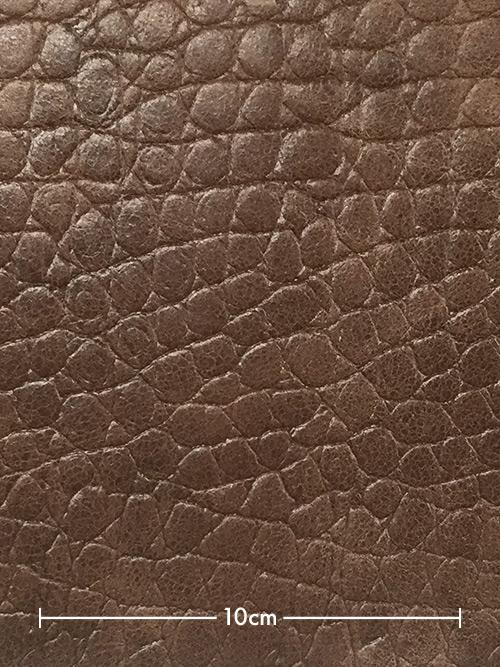 ヤギヌメ革【丸革】両面使い/型押し(ワニ・丸腑)/1.2mm/チョコ [50%OFF]