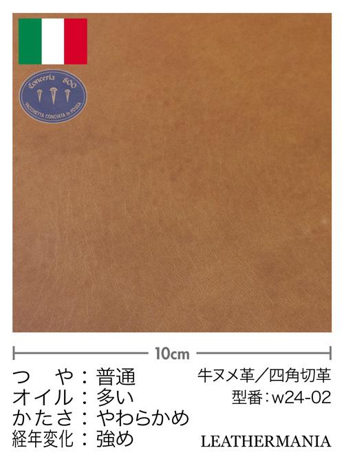牛ヌメ革【各サイズ】ブルガノ/茶