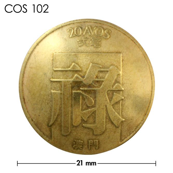 コンチョ/マカオ/20アボス/真鍮色/21mm [40%OFF]
