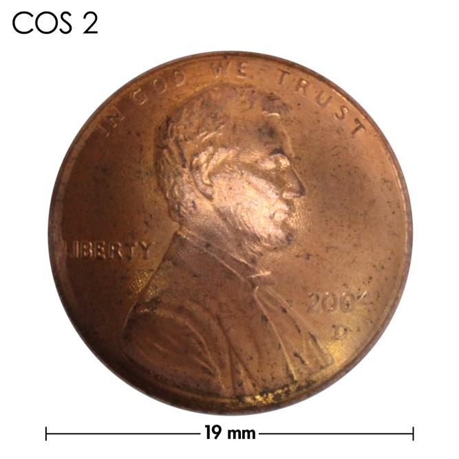 コンチョ/アメリカ/1セント/人物/銅色/19mm [ポイント40倍]