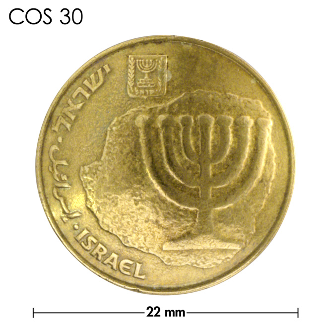 コンチョ/イスラエル/10アゴロット/真鍮色/22mm [30%OFF]