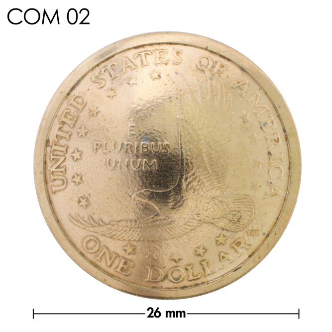 コンチョ/アメリカ/1ドル/サカジャウェア/真鍮色/メス5mm/26mm [10%OFF]