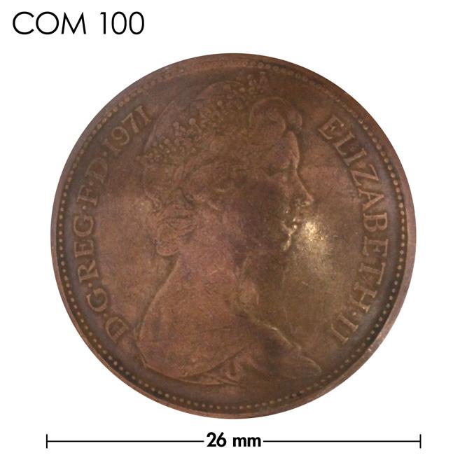 コンチョ/イギリス/NEW2ペンス/エリザベス女王前期/銅色/26mm [ポイント40倍]