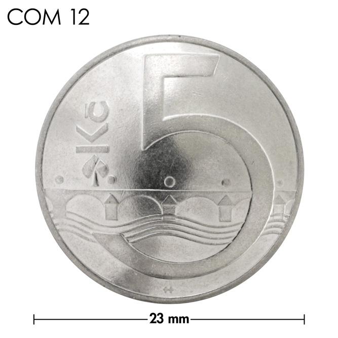 コンチョ/チェコ/5コルナ/橋/銀色/23mm [10%OFF]