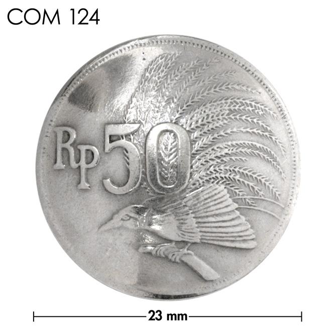 コンチョ/インドネシア/50ルピア/鳥/銀色/23mm [ポイント40倍]